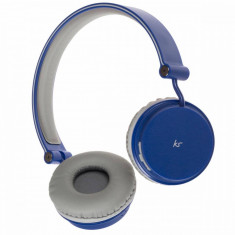 Casti bluetooth KitSound Fresh Metro Blue, Casti Over Ear
