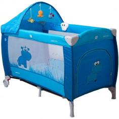 Pat pliant Samba Lux - Coto Baby - Albastru - Patut pliant bebelusi