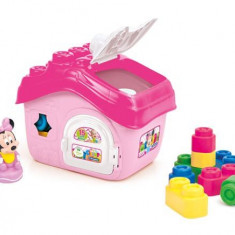 Clemmy - Casuta Minnie cu cuburi - Set de constructie