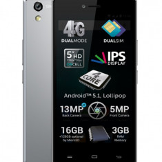 Allview X2 Soul Style+ Platinum, cu husa stand + folie sticla - Telefon mobil Allview X2 Soul, Negru, Neblocat