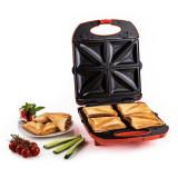 Klarstein Trinity 3 in 1 Sandwich Maker XXL 1300 W rosu - Detector metale