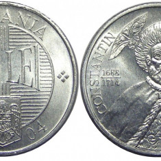 ROMANIA 1000 LEI 2004 DIN FISIC UNC NECIRCULATA, Aluminiu