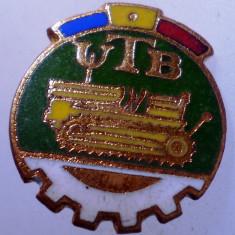 I.180 INSIGNA ROMANIA AUTO UTB UZINA TRACTORUL BRASOV TRACTOR V1 h19mm email