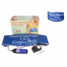 Centura cu incalzire si masaj Sauna Massage Fitness 2 in 1 Practic HomeWork - Centura masaj