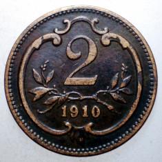 2.366 AUSTRIA 2 HELLER 1910, Europa, Bronz