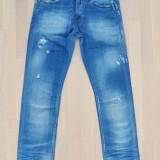 Blugi Replay Waiton originali, sub jumatate de pret - Blugi barbati, Marime: 30, Culoare: Albastru, Lungi, Prespalat, Slim Fit