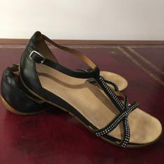 Sandale Clarks active air autentice - Sandale dama Clarks, Culoare: Negru, Marime: 38, Piele naturala