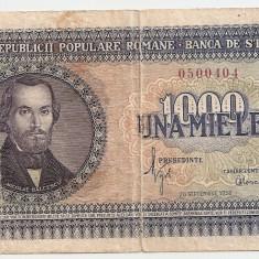 ROMANIA 1000 LEI 1950 VF - Bancnota romaneasca
