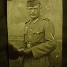 Foto militara originala, soldat german WH, al 3-lea Reich WW 2/nazista/colectie - Fotografie veche