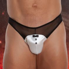 Tanga barbati - Alb - M/L - Lenjerie sexy barbati