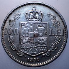 R.078 ROMANIA CAROL II 100 LEI 1936 - Moneda Romania, Nichel