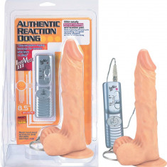 Vibrator cu ventuza Authentic Reaction Dong 21 cm - Vibrator Vaginal