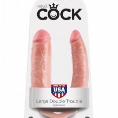 Dildo dublu King Cock U-Shaped Large