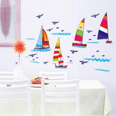 Autocolant pentru copii - Barcute pe apa