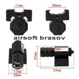 Punctator Laser Micro Red Dot, Laser Pistol Airsoft
