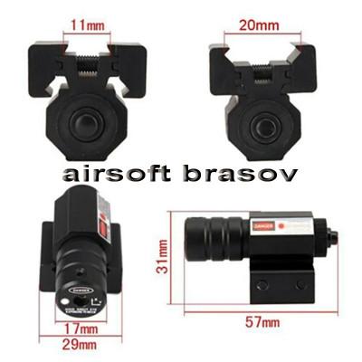 Punctator Laser Micro Red Dot, Laser Pistol Airsoft foto