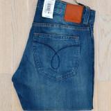 Blugi CK Calvin Klein W30 L34 - Blugi barbati, Culoare: Albastru, Lungi, Prespalat, Slim Fit, Normal
