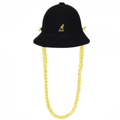 Palarie Kangol Knit Chain Casual Negru (Masuri: S,M,L,XL) - cod 1905291715790 foto
