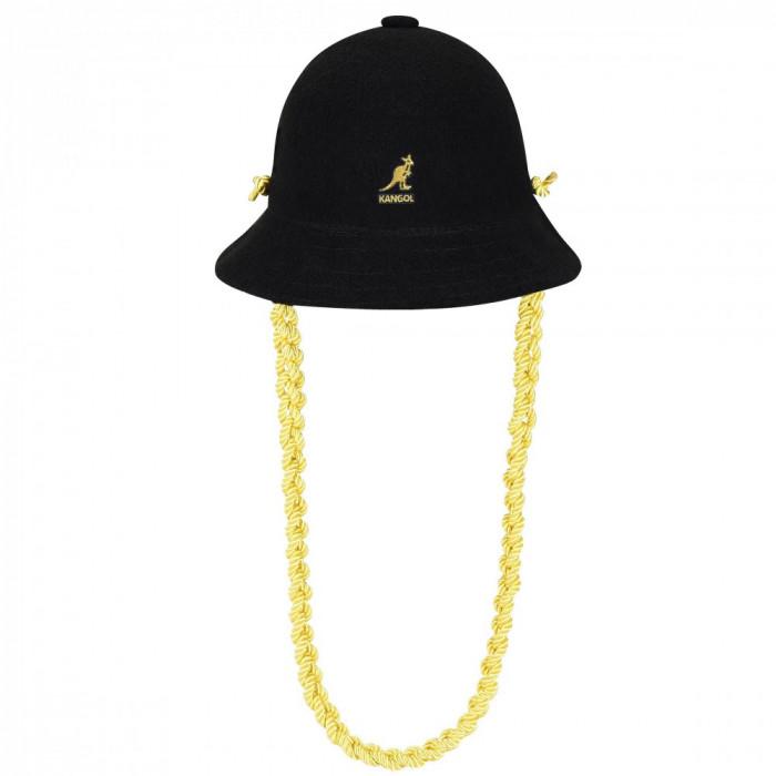 Palarie Kangol Knit Chain Casual Negru (Masuri: S,M,L,XL) - cod 1905291715790