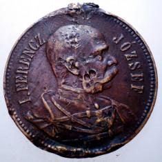 F.485 MEDALIE ROMANIA UNGARIA AUSTRIA FERENCZ JOZSEF BANAT CSANAD CENAD 1912 - Medalii Romania