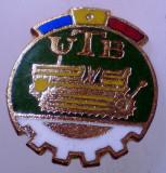 I.151 INSIGNA ROMANIA AUTO UTB UZINA TRACTORUL BRASOV TRACTOR V1 h19mm email