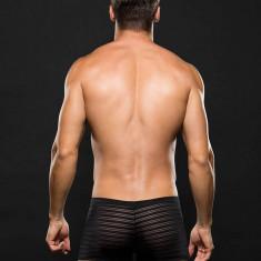 Microfiber Boxer ENVY M/L Stripe Black - Lenjerie sexy barbati