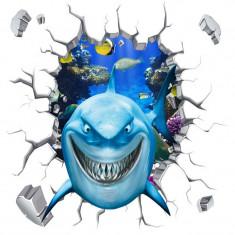 Autocolant decorativ 3D - Rechin