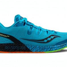 Pantofi alergare barbati Saucony Freedom ISO SS 2017 - Adidasi barbati Saucony, Marime: 42, Culoare: Turcoaz