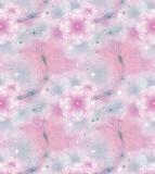 Tapet netesut roz cu flori - Walt Disney