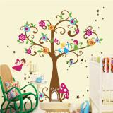 Sticker de perete pentru copii - Copacel cu flori