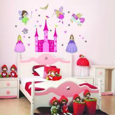 Sticker camere fetite - Castel cu printese