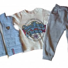 Set 3 piese - vesta, pantaloni si bluza - 80 cm
