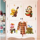 Autocolant decorativ copii – Muzicienii veseli