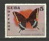 CUBA--FLUTURI-FAUNA--1972-MNH, Nestampilat