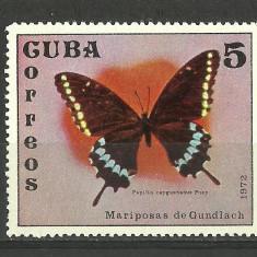 CUBA--FLUTURI-FAUNA--1972-MNH - Timbre straine, Nestampilat