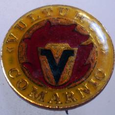 I.228 INSIGNA ROMANIA PRAHOVA VULTURUL COMARNIC CERAMICA 20mm, Romania de la 1950