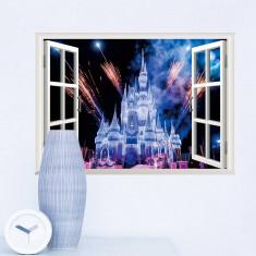 Stickere 3D pentru fete- Castel cu artificii