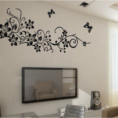 Sticker camera zi - Flori si fluturasi