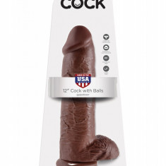 Dildo cu testicule King Cock 30 cm - Dong