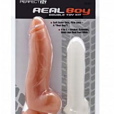 Real Boy Kit - SilaSkin Cock Sheath Extender + Dildo - Dong