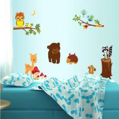 Autocolant de perete camere copii - Animalele padurii