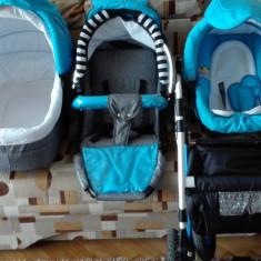 Carucior copil - Carucior copii 2 in 1, Albastru