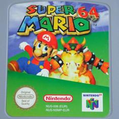 Caseta card joc original Super Mario 64 pentru console retro Nintendo 64 ca nou, Arcade, Toate varstele, Multiplayer