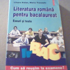 LITERATURA ROMANA PENTRU BACALAUREAT / Eseuri si teste { Polirom, 2005 } - Teste Bacalaureat