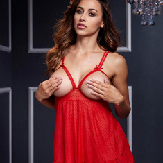 Babydoll - Open Cup Bra Panty - Lenjerie sexy femei