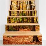 Stickere decorativ scari - Padure tomnatica