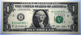 100. USA SUA 2X1 DOLLAR 2009 SERII CONSECUTIVE SR. 921-922 AUNC STEA STAR NOTE
