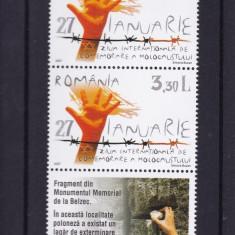 ROMANIA 2007 LP 1754  LP 1754 a  HOLOCAUST SERIE +  SERIE  CU TABS  MNH