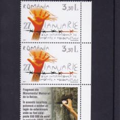 ROMANIA 2007 LP 1754 LP 1754 a HOLOCAUST SERIE + SERIE CU TABS MNH - Timbre Romania, Nestampilat