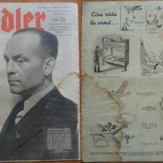 Revista aviatiei germane Luftwaffe , Der Adler , nr. 9 , 1943 , in limba romana